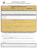 Form Ds-11 - Application Form For A U.s. Passport