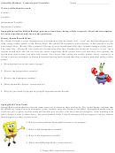 Scientific Method - Controls And Variables Worksheet Template