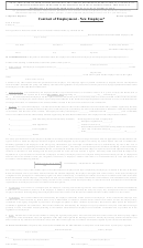 Contract Of Employment - New Employee