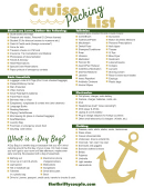 Cruise Trip Packing List Template - Yellow/green