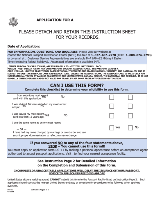 Application For A U.s. Passport By Mail