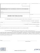 Order For Publication