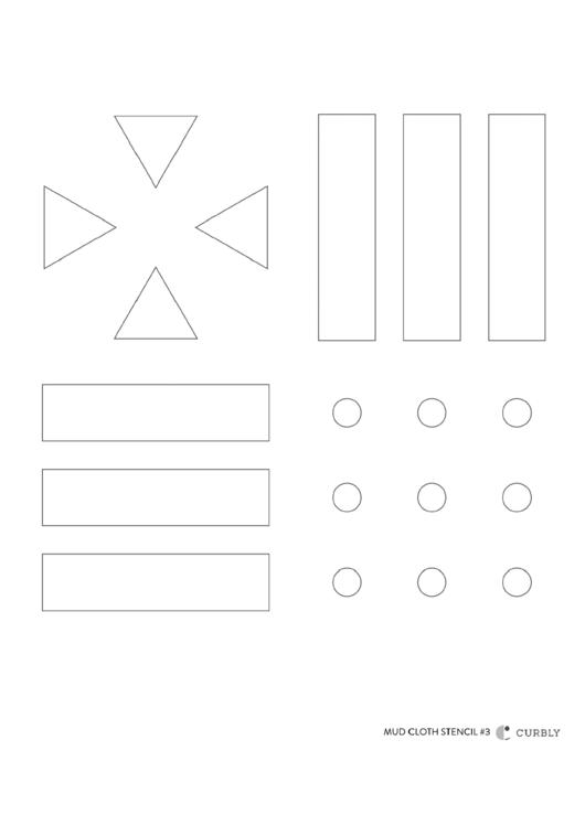 Simple Shapes Stencil Printable pdf