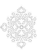 Eastern Paper Ornament Template