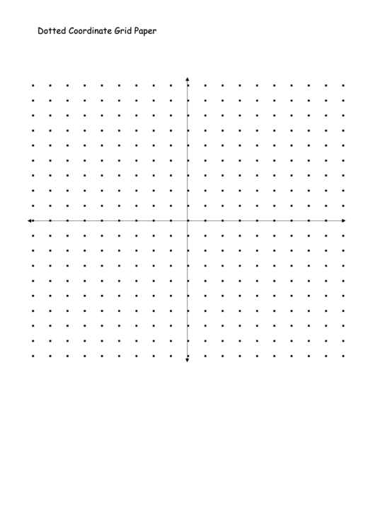 Dotted Coordinate Grid Paper Printable pdf