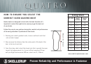 Quatro Boot Size Chart