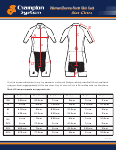 Champion System Woman Donna Forte Skin Suit Size Chart