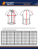 Champion System Donna Forte Azzuro Jersey Race Cut Size Chart