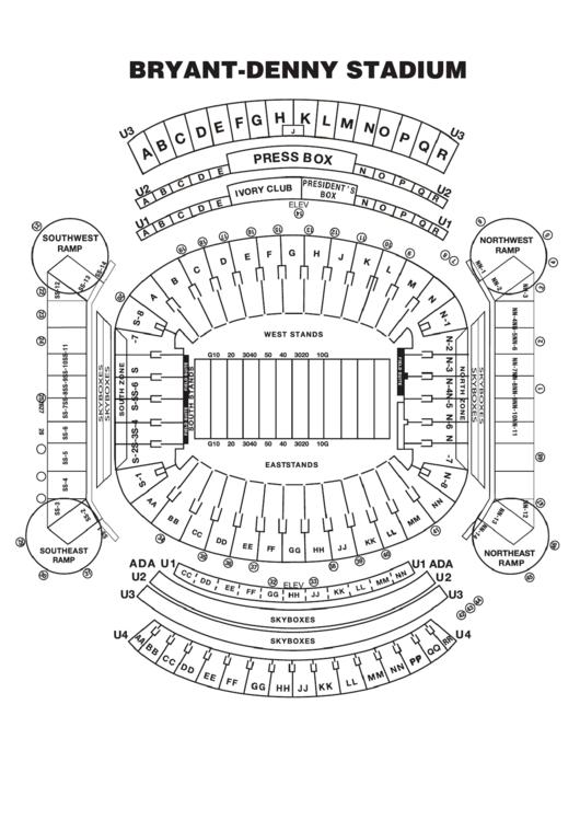 Bryant Denny Stadium Seating Chart Printable pdf