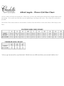 Alfred Angelo Flower Girl Size Chart