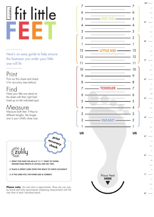 kids shoe size chart printable