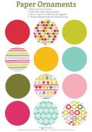 Multicolor Circles Paper Ornaments