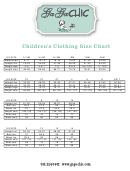 Gaga Chic Childrens Clothing Size Chart