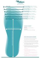 Mahina Mermaid Merfin Size Chart