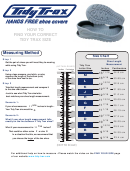 Tidy Trax Shoe Covers Size Chart