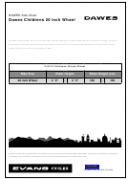 Dawes Bike Size Chart