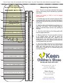 Keen Children's Shoes Size Chart