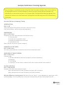 Sample Field Sales Training Agenda