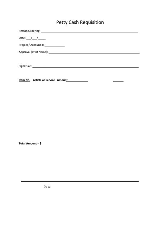 petty cash requisition printable pdf download