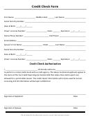 Credit Check Form