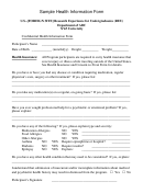Sample Health Information Form