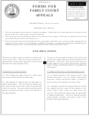 Forms For Family Court Appeals Instructions