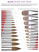 Blick Brush Size Chart
