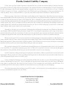 Florida Limited Liability Company Setup Instructions
