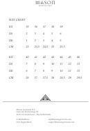 Mason Shoes Size Chart