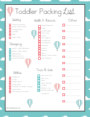 Toddler Packing List