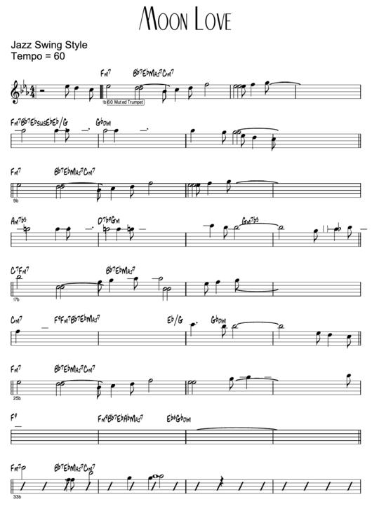 Moon Love (jazz Swing Style)