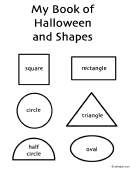 Halloween Coloring Book - Drawings Using Shapes