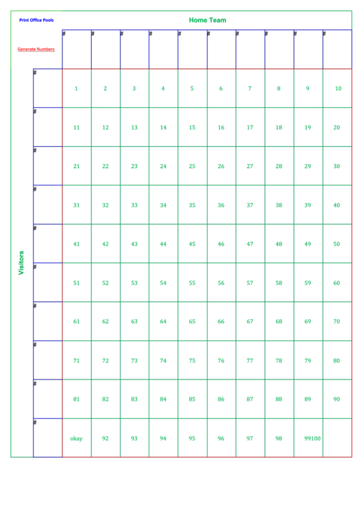 Fillable Football Pool Sheets 4 Printable Pdf Download