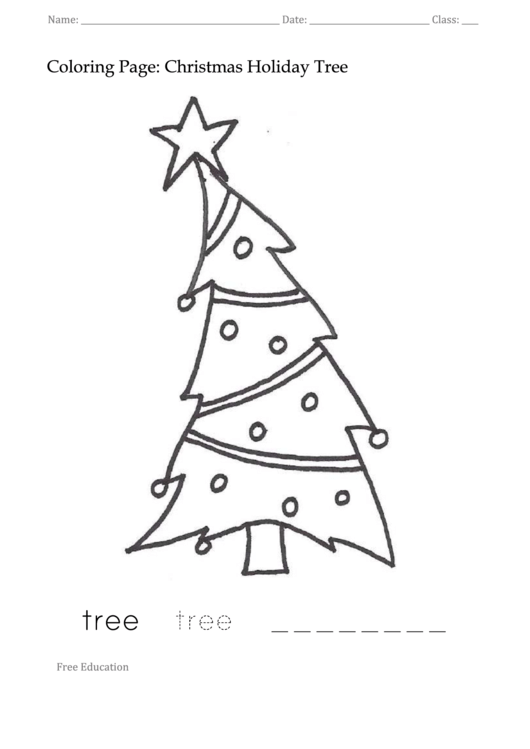 Top 6 Christmas Tree Coloring Sheets free to in