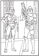 Imperial Stormtroopers Coloring Sheet