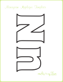 Letter N Alphabet Templates