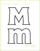 Letter M Alphabet Templates
