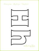 Letter H Alphabet Templates