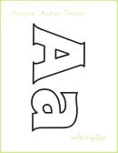 Letter A Alphabet Templates