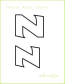 Letter Z Alphabet Templates