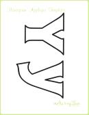 Letter Y Alphabet Templates