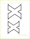 Letter X Alphabet Templates
