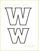 Letter W Alphabet Templates
