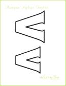 Letter V Alphabet Templates