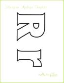Letter R Alphabet Templates