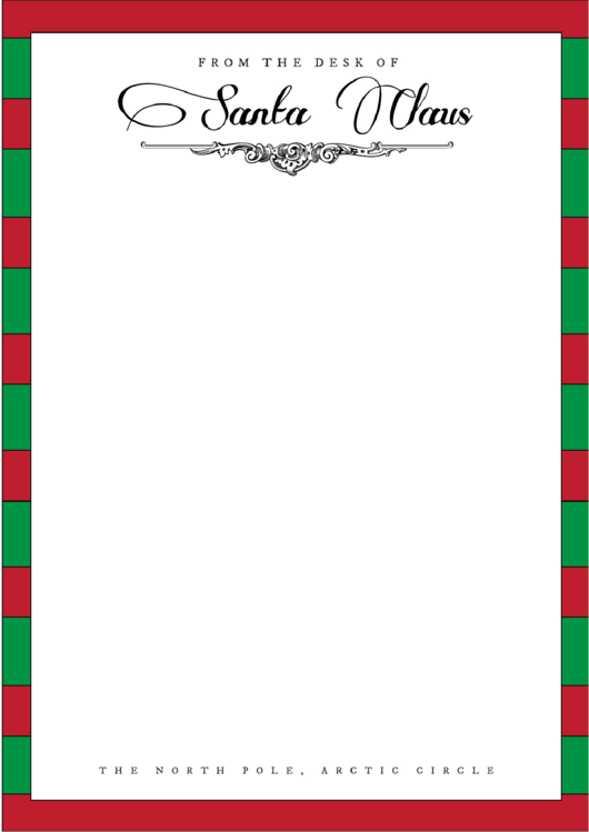 Christmas Santa Writing Paper