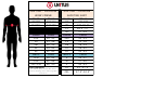 Unitus Lacrosse Jersey/pinnie/shooting Shirt Size Chart