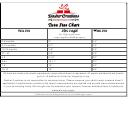 Dasher Creations Tutu Size Chart