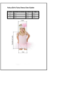 Fairy Girls Tutu Dress Size Guide
