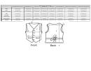Woven Magic Waist Coat Size Chart